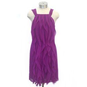 WHITE by VERA WANG Purple Chiffon Sleeveless Dress
